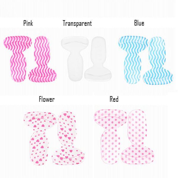 Gel 2in1 Heel Protectors Soft High Heels Shoes Insert Insoles