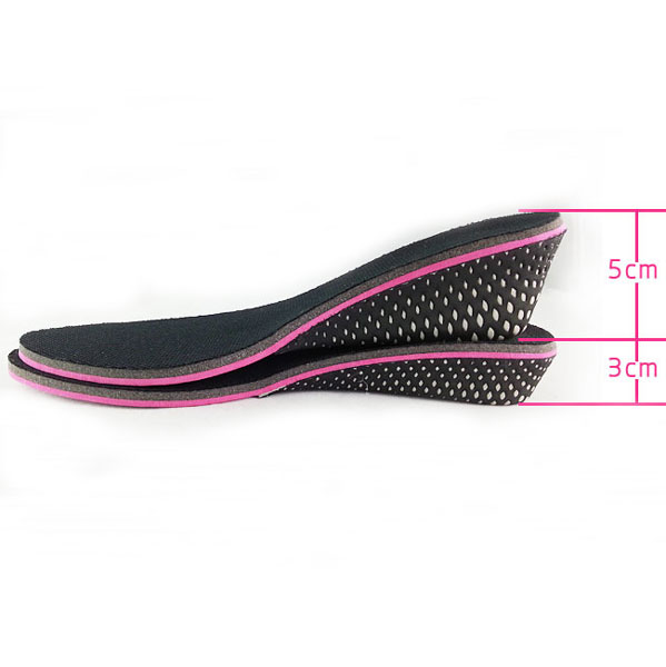 3CM 5CM Fashion Invisible Increased Pad Height Shoes Insoles for Women