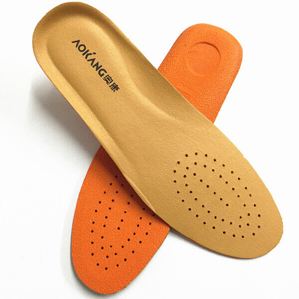 AOKANG Breathable Leather Insoles Soft Shoes Pad