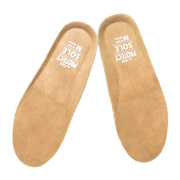 Beige Labor Shoe Inserts Foot Insoles Within Steel