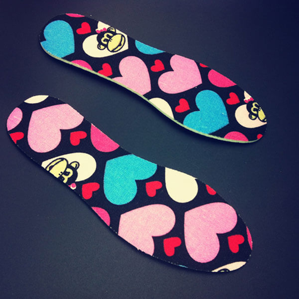 Children Latex Shoe Insoles with Lovely Rabbit Pattern