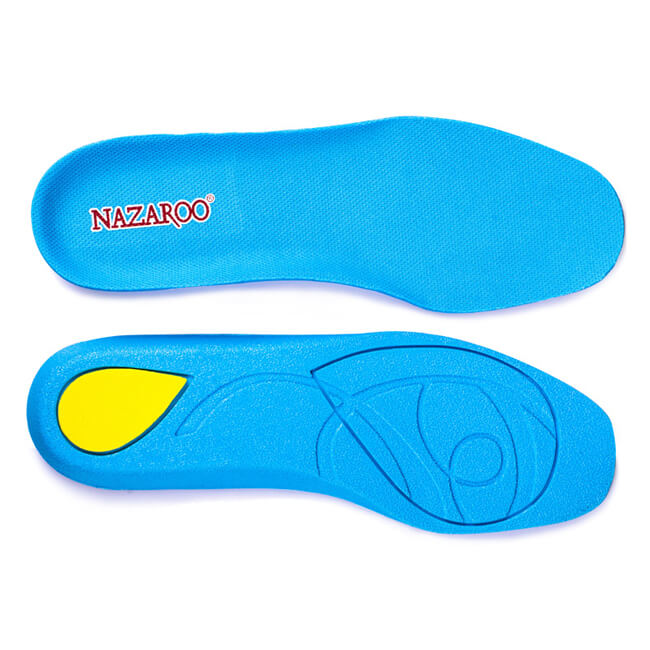 Comfortable Shock Absorption PU Insoles for Hikers Sky Blue