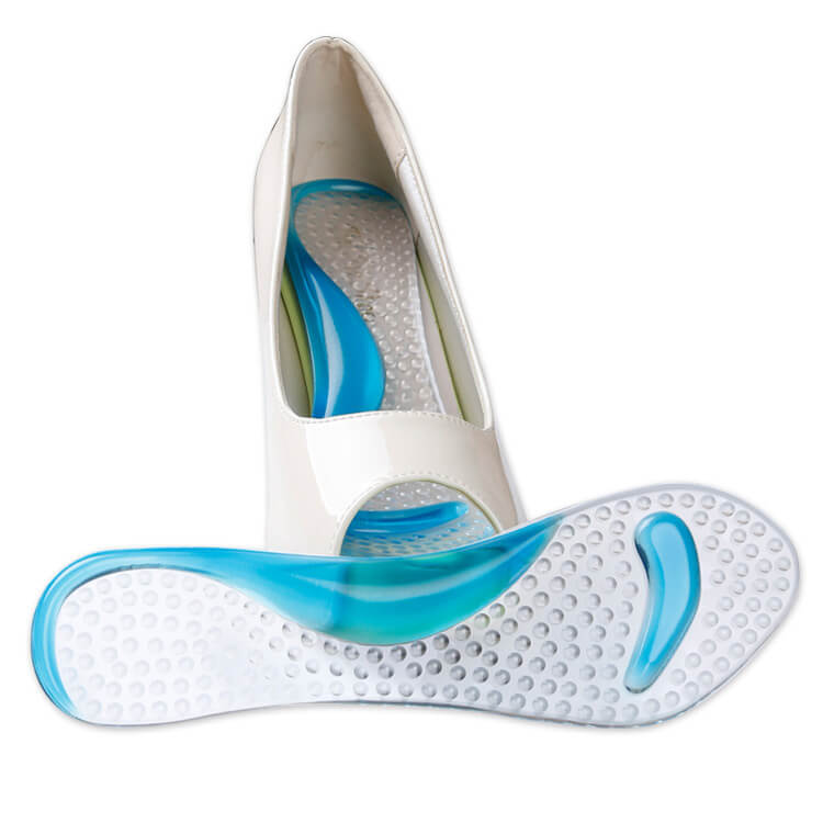 Comfortable Gel Heels Pad 7/10 Arch Support Shoe Insoles