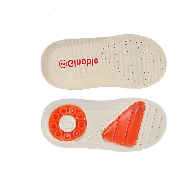 Ginoble Brand Kis's Shock Absorption Insoles with Heel Cup Mat for 0-5 Years