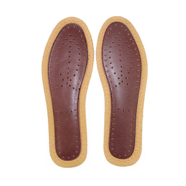 Men's Bamboo Leather Insoles Deodorant Shoe Inserts