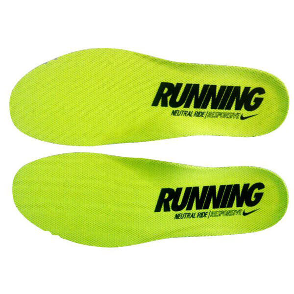 NIKE AIR MAX RUNNING NEUTRAL RIDE RESPONSIVE Insoles Light Green/ Yellow