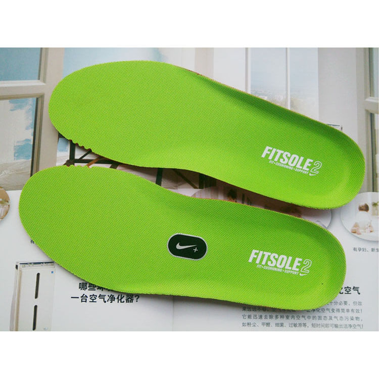NIKE FITSOLE Ortholite Thick Insole Sport Inserts Light Green