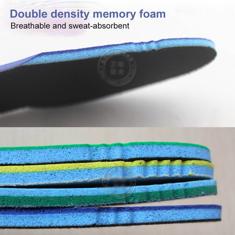 NIKEGOLF Double Layer Hardened Memory Foam Sports Shoe Insoles