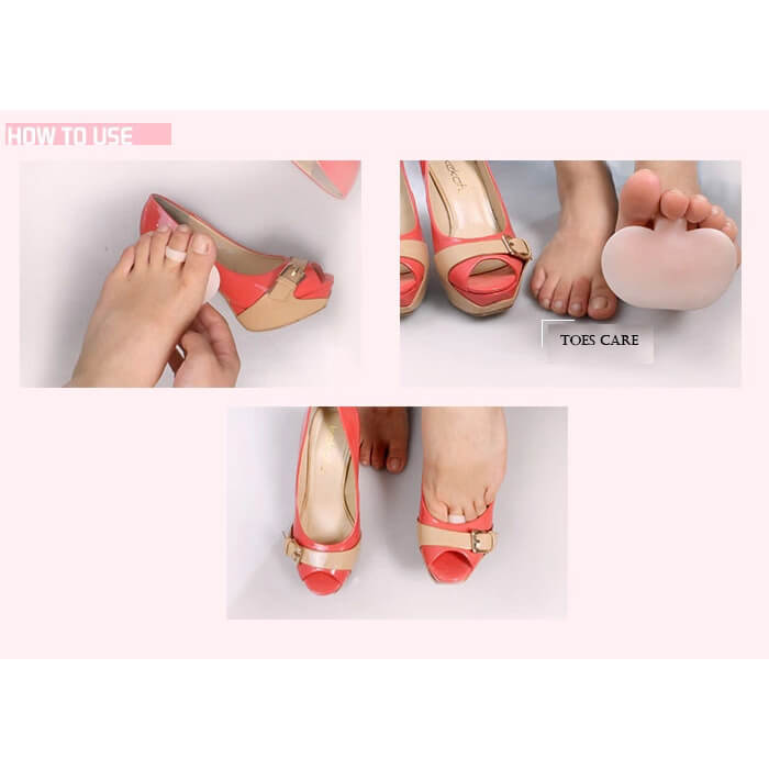 Adhesive Soft High Heel Forefoot Pad, Anti-slip Insoles