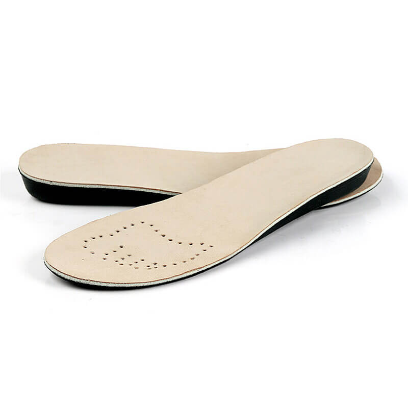 Soft Sheepskin Leather EVA Increased Insoles 1.0CM 2.0CM 3.5CM