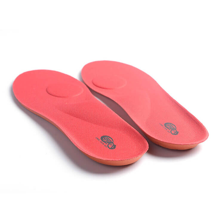 Breathable Running Ortholite insoles Insert for Sports Shoes Red